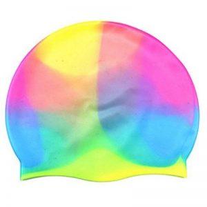 ACME - Bonnets de Bain en silicone cap de natation bonnet de natation coloré confortable pour adultes enfants Taille unique de la marque image 0 produit