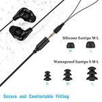 AGPTEK Ecouteurs Etanche 3.5mm IPX8 SE11B, Compatible avec AGPTEK mp3 étanche S05, S12, S33 Certifié par FCC,CE,ROHS- Noir de la marque image 1 produit