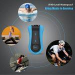 AGPTEK S12E Lecteur Mp3 Etanche, Version nouvelle Mp3 Waterproof 8Go IPX8 pour Natation(piscine) et Sports, Bleu de la marque image 2 produit