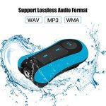 AGPTEK S12E Lecteur Mp3 Etanche, Version nouvelle Mp3 Waterproof 8Go IPX8 pour Natation(piscine) et Sports, Bleu de la marque image 3 produit