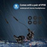 AGPTEK S12E Lecteur Mp3 Etanche, Version nouvelle Mp3 Waterproof 8Go IPX8 pour Natation(piscine) et Sports, Bleu de la marque image 4 produit