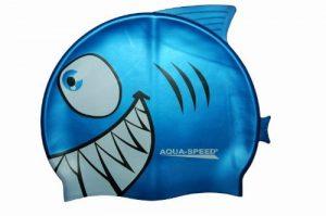 Aquaspeed Shark Bonnet de bain et natation pour enfant en silicone flexible Motif requin de la marque image 0 produit