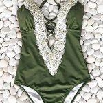 ASSKDAN Sexy Féminin Bikini 1 Piece Dentelle À bretelle Col V Profond Amincissant Maillot de bain Push-up Rembourré de la marque ASSKDAN image 1 produit