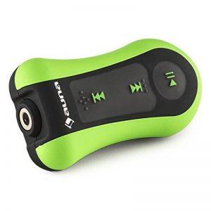 auna Hydro 8 - Lecteur MP3 étanche avec clip ceinture et capacité de 8GB - parfait pour le surf, piscine... (écouteurs intra-auriculaires inclus, batterie) - vert de la marque image 0 produit