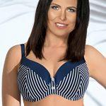 Ava SK-17 Top De Bikini Feminin Top Qualité A Rayures- Fabriqué En UE, bleu marine-blanc,90C de la marque Ava image 2 produit