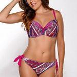 Ava SK-63 haut de bikini feminin motifs multicoloureux top qualité pi?ce du set avec fil- fabriqué en UE de la marque Ava image 1 produit