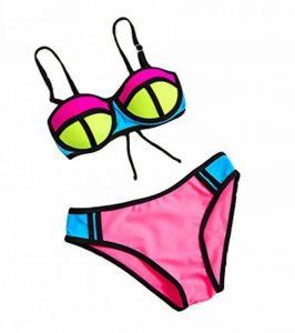 Baymate Enfant Fille Bikini Ensemble Deux Pièces Maillot de bain Maillots de plage Swimwear de la marque Baymate image 0 produit