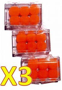 BODYGUARD EAR Protection Auditive Silicone 6 Bouchons d'oreille en silicone ORANGE - Lot de 3 boites de 6 Bouchons O… de la marque image 0 produit