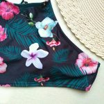 Bonjouree Maillots de Bain Femme 2 Pièces Taille Haute Push-up Bikini à Fleurs de la marque Bonjouree # Maillots de Bain image 4 produit