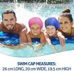 Bonnet de bain pour cheveux longs Swimtastic, spécialement conçu pour nageurs avec cheveux longs, épais ou frisés de la marque image 3 produit
