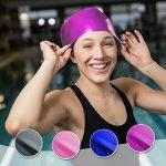 Bonnet de bain pour cheveux longs Swimtastic, spécialement conçu pour nageurs avec cheveux longs, épais ou frisés de la marque image 4 produit