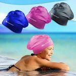Bonnet de bain Swimtastic pour cheveux longs, épais ou frisés - Bouchons d'oreilles de la marque image 1 produit
