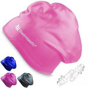 Bonnet de bain Swimtastic pour cheveux longs, épais ou frisés - Bouchons d'oreilles de la marque image 0 produit