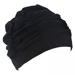 Bonnets de bain en tissu plissé pour cheveux longs TININNA Bonnet de bain Bonnets de bain pour femme de la marque image 0 produit