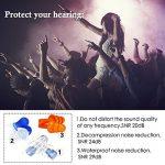 Bouchon D'oreille Anti-Bruit Protection Auditive Boule Quie avec 3 Paires Earplugs en Silicone De Différentes Fonctions, Etui en Aluminium pour Musiciens Concerts Festivals Voyage Travail Vol (3 Pcs) de la marque image 3 produit