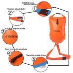 Bouée de sécurité flottante et sac étanche pour nageurs en eaux libres, triathlètes, kayakeurs et plongeurs - Esone - 15L de la marque ESONE image 1 produit