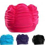 Butterme Femmes Filles Plissé Tissu Doux Tissu Bonnet / Casquette / Turban Bonnet de bain Bel Chapeau pour Dreadlocks Long Cheveux Eté / Mer / Piscine Fun Play de la marque image 2 produit