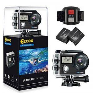Camera d'Action Pro 4K/1080P WiFi Etanche 30M, 2 Ecrans Ultra HD 170°Caméra Sport Accessoires tous inclus pour Cyclisme Natation Plongée Ski Parachutisme Quadricoptère etc. de la marque EECOO image 0 produit