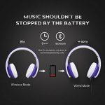 Casque Bluetooth Sans fil, Casque Audio MP3 Lecteur, Écouteurs Stéréo Sport Intra-Auriculaires,Micro Oreillette Anti Bruit / Hip-Hop / Bluetooth CSR Signal Stable / Bandeau Pliable Pivotant / M (bleu) de la marque image 1 produit