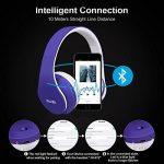 Casque Bluetooth Sans fil, Casque Audio MP3 Lecteur, Écouteurs Stéréo Sport Intra-Auriculaires,Micro Oreillette Anti Bruit / Hip-Hop / Bluetooth CSR Signal Stable / Bandeau Pliable Pivotant / M (bleu) de la marque image 2 produit