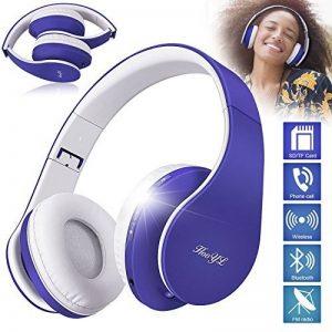 Casque Bluetooth Sans fil, Casque Audio MP3 Lecteur, Écouteurs Stéréo Sport Intra-Auriculaires,Micro Oreillette Anti Bruit / Hip-Hop / Bluetooth CSR Signal Stable / Bandeau Pliable Pivotant / M (bleu) de la marque image 0 produit