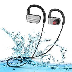 Casque Bluetooth V4.1 Écouteurs Audio Sans Fil Sport IPX7 Etanche Siroflo U2 Oreillettes Bluetooth avec Micro Casque de Sport Ecouteur de Natation Connection avec Deux équipement Pour iOS Android de la marque image 0 produit