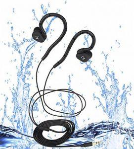 Casque imperméable à l'eau pour la natation, pièce de mémoire novatrice et flexible pour Swimmer, Runner, Rider, Diver et Surfer (seulement des écouteurs étanches sans lecteur MP3) de la marque image 0 produit