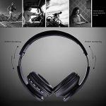 casque pliable,Ecandy 4 en 1 casque Bluetooth Sans fil Casque Audio MP3 Lecteur,ecouteur Stéréo sport anti bruit avec micro le câble 3,5 mm,casques audio sans fil soutien TF radio FM(Or - new) de la marque image 3 produit