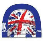 Casquette bonnet Cagoule en tissu Bonnet de natation diapolo United Kingdom Lycra de la marque image 1 produit