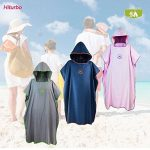 Changing robe Towel Poncho with Hood for Surfing Swimming Wetsuit Changing, Compact & Light Weight, One Size Fit All de la marque Hiturbo image 4 produit