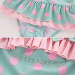 CHIC-CHIC Ensemble 2Pc Maillot de Bain Bébé Fille Bikini +Bonnet de Bain Une Pièce Motif Elastique Bikini de Nataion Plage Mignon Vacances Printemps Eté de la marque De feuilles image 4 produit