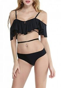 CHIC DIARY Mignon Maillot de Bain Femme 2 Pièces Ensemble Froufrou Lotus Top Trikini Slip Bikini de Plage Vacance d'Eté de la marque CHIC DIARY image 0 produit