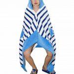 Comfysail 100% Coton Serviette Enfants Poncho à Capuche Pour Les Garçons Et Les Filles De 2-7 Ans Idéal De La Plage et De Bain (bleu) de la marque Comfysail image 2 produit