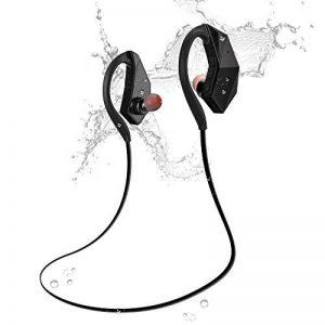 Écouteurs Bluetooth Étanches, Olycism Bluetooth 4.1 Earphone Stéréo avec Mic-intégré, IPX8 Imperméable Accessoire de Musique Running Natation Essentials [Lecteur MP3 8 Go, Clé USB, Appel Mains Libres] (NOTE : Bluetooth ne peut pas être utilisé lors de la image 0 produit