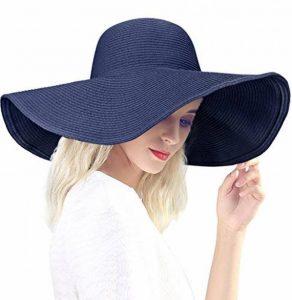 DAFUNNA Chapeau de Paille Femme Capeline Plage Anti-UV Bord Large Pliable Chapeau De Soleil pour été Loisir Voyage Vacances de la marque DAFUNNA image 0 produit