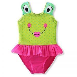 DAXIANG 1 Pièce Enfant Maillot de Bain Grenouille Mignon de Bande Dessinée avec Jupe Tulle Ruffle Bikini de la marque DAXIANG image 0 produit