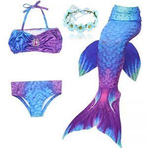 DAXIANG Fille 3pcs Nageoire de Sirene Maillots de bain Mermaid avec Ailerons Bikini Ensembles de la marque DAXIANG image 0 produit