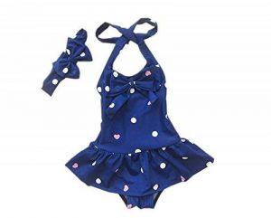 DELEY Bébé petites Filles Maillots de bain Polka Dot Bikini Swimsuit Maillots de bain Bandeaux de la marque DELEY image 0 produit