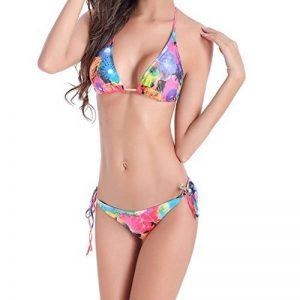 Deylaying Plage Dame Maillot de bain Push Up Rembourré Bikini Set Bandage Plage Sous-vêtements de la marque Deylaying image 0 produit