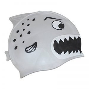 Dianoo enfants imperméable cache-oreilles bonnet de bain avec haute qualité silicone dessin animé modèle la natation casquette enfants bonnet de bain de la marque image 0 produit