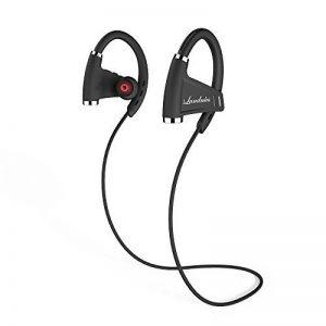 Écouteur Bluetooth Oreillette Temps de Musique 12-15 Heures Casque Étanche IPX7 sans Fil avec Microphone Écouteur Sport Stéréo Anti-Transpiration Oreillette Anti-bruit Bluetooth 4.1 Compatible avec iPhone, iPad, iPod, Samsung d'autres Smartphones de la ma image 0 produit