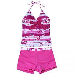 EFE 2 pièces Maillot de bain Filles Tankini Haut + Shorts Protection Enfant Swimsuit 7-16 Ans de la marque EFE image 0 produit