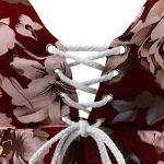 Eleery 2 Pièces Ensemble Femmes Fille Maillots de Bain Bikini Balconnet T-shirt Loose Tops Floral Dos Nu Shorts Imprimé Salopettes Courts SexyÉté Plage de la marque Eleery image 4 produit