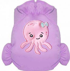 Eliott Et Loup Octopus Maillot de bain couche à Scratch ajustable Enfant 0-3 ans Parme Taille Unique Séchage Rapide de la marque Eliott Et Loup image 0 produit
