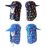 Enfants Casquette Sun Chapeaux Bonnet - Garçons Bonnet de Natation Filles Protection Solaire UV Chapeau Bonnet de Bain Seau réglable de la marque image 4 produit