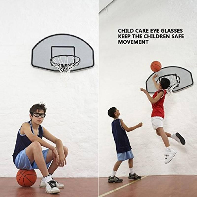 ENFANTS de basketball Lunettes de natation Verres transparents adolescent Lunettes  de protection résistant aux chocs Lunettes Eyewear avec sangle réglable ... 729734239ca6