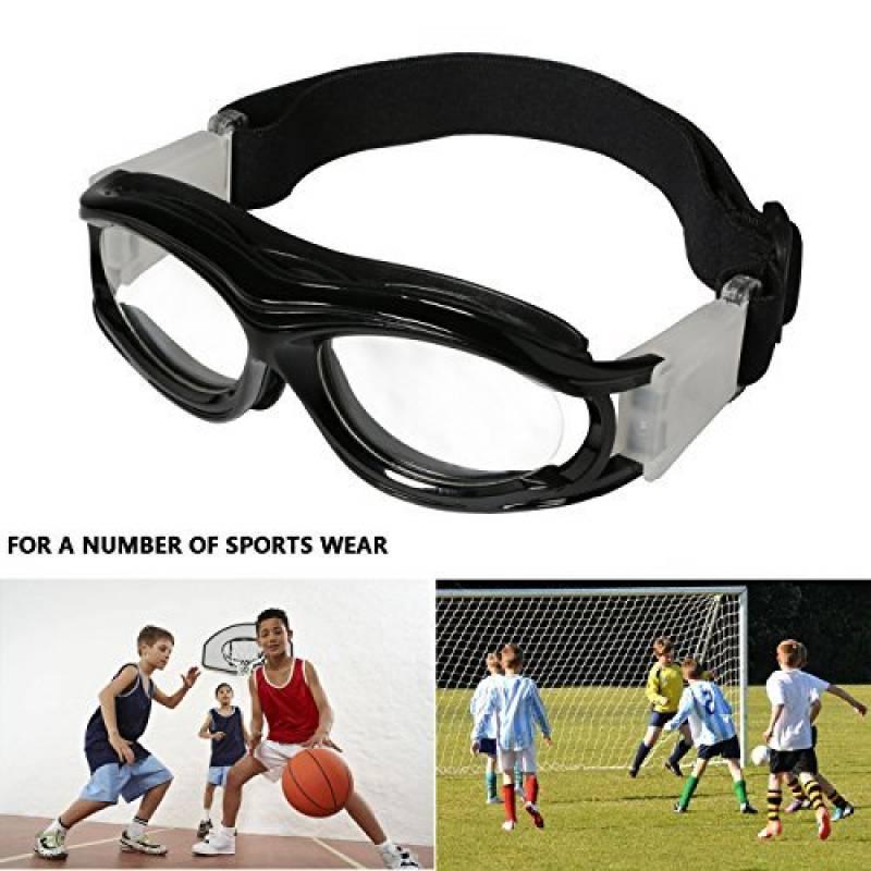 ENFANTS de basketball Lunettes de natation Verres transparents adolescent  Lunettes de protection résistant aux chocs Lunettes Eyewear avec sangle  réglable ... 610934afc1a2
