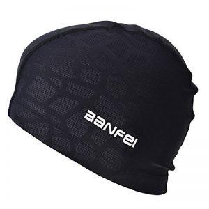 Fecihor Bonnet de natation pour adulte Bonnet de bain en fibre en coton pour hommes et femmes Flexible étanche Résistant à l'humidité Hat pour cheveux longs de la marque image 0 produit