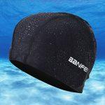 Fecihor Bonnet de natation pour adulte Bonnet de bain en fibre en coton pour hommes et femmes Flexible étanche Résistant à l'humidité Hat pour cheveux longs de la marque image 2 produit