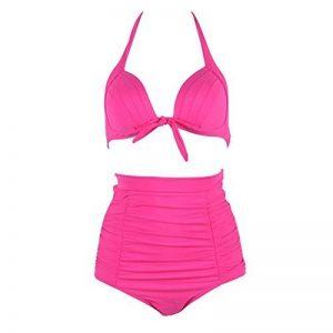 FeelinGirl Bikini Taille Haute Retro Vintage 2 pieces M-3XL de la marque FeelinGirl image 0 produit